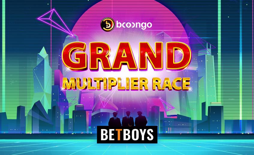 Прогрессивный призовой фонд в турнире Grand Multiplier Race от провайдера Booongo и казино BetBoys