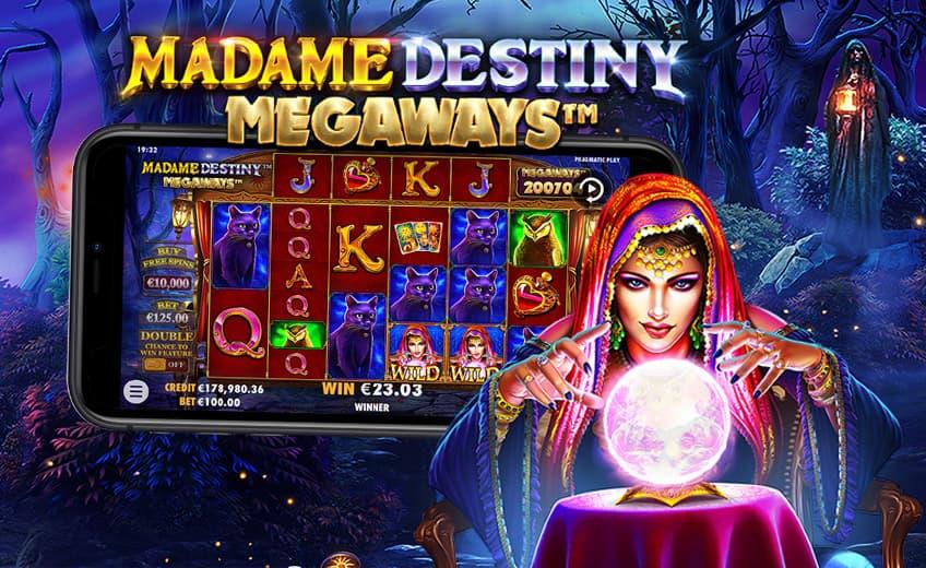 Новый слот Madame Destiny Megaways: множитель до ×25 и выигрыш ×5000 за спин
